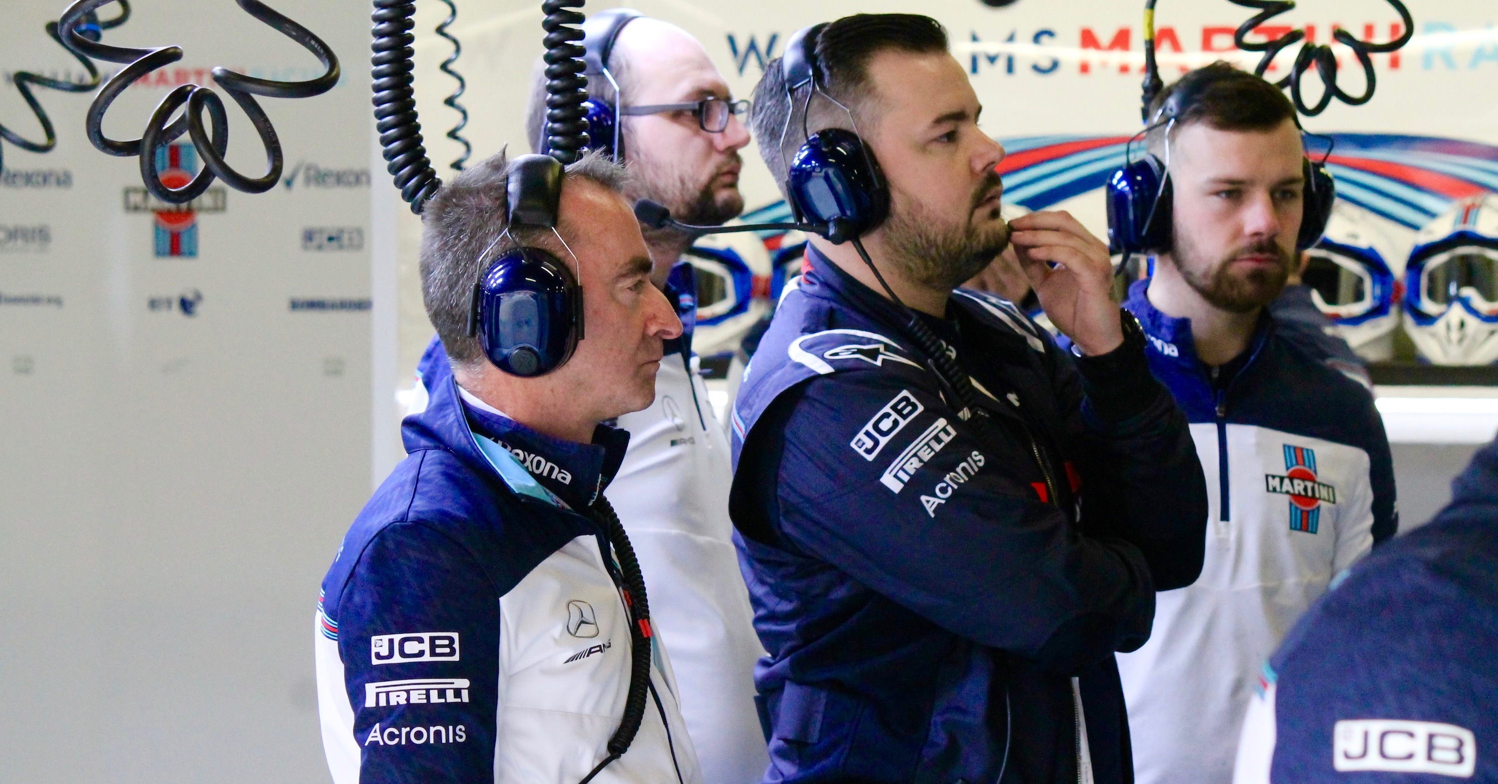 Formula 1 Radios - Williams Martini Racing garage.