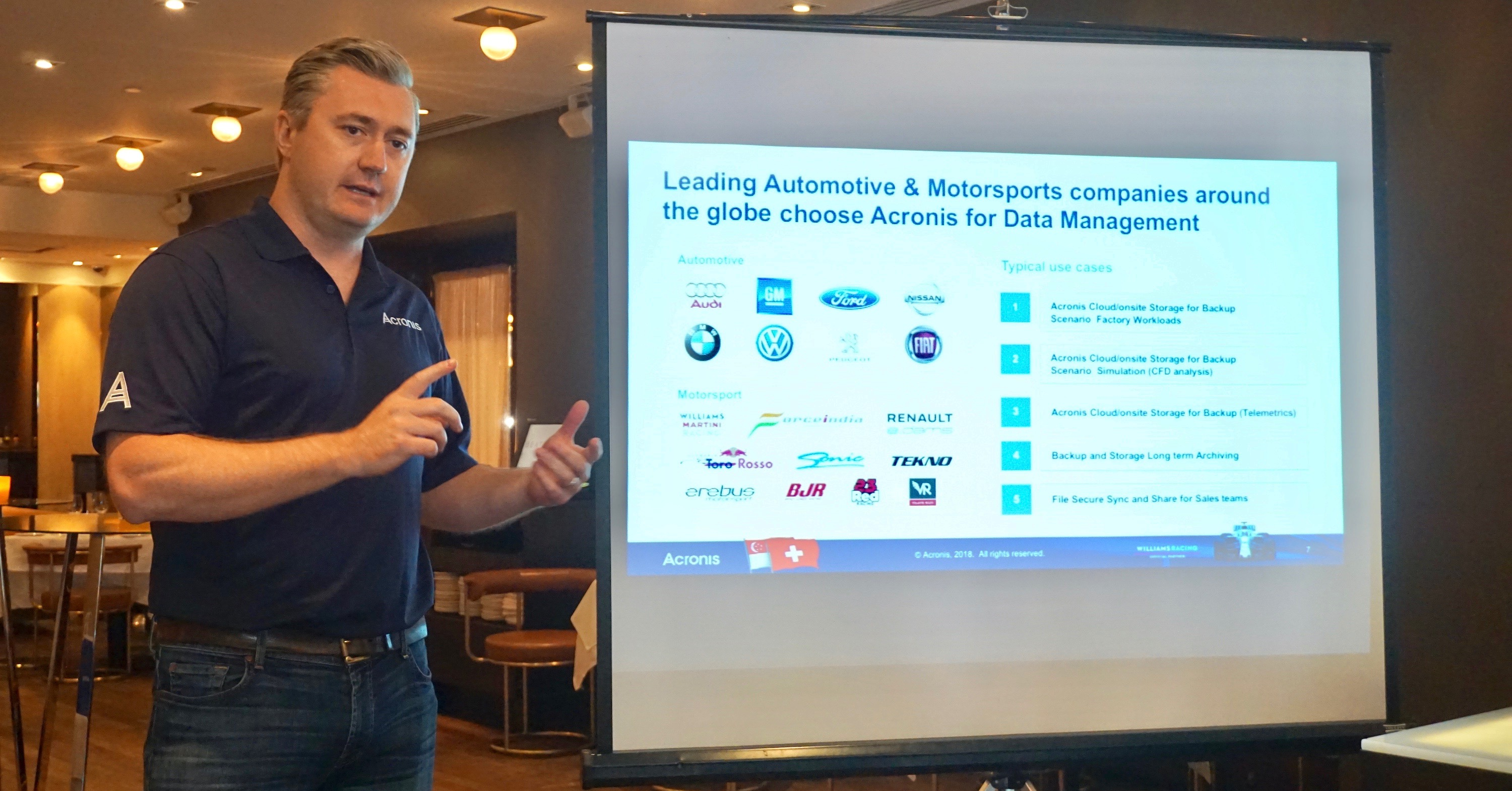 Patrick Hurley, VP and GM Americas at Acronis, explains the benefits of Acronis cyber protection.