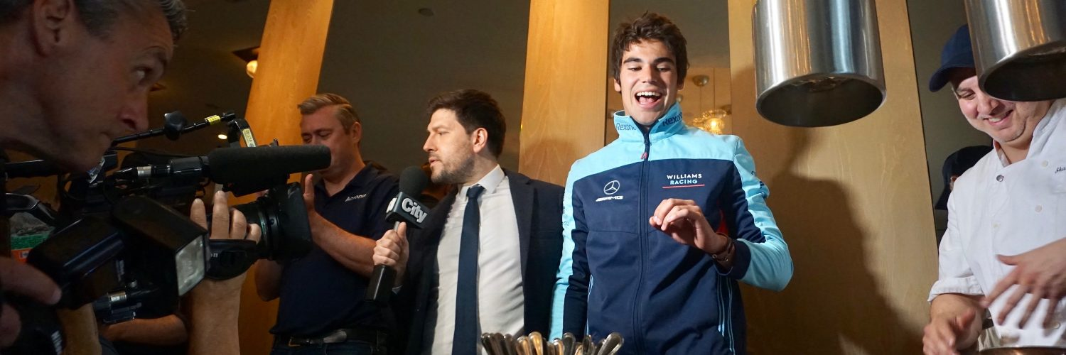 Lance Stroll of Williams Racing at the Acronis event in Canada.