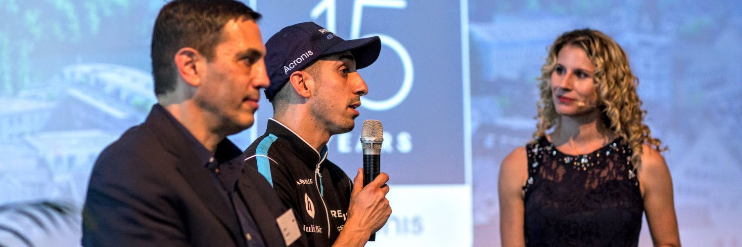 Sebastian Buemi at Acronis 15-year Anniversary