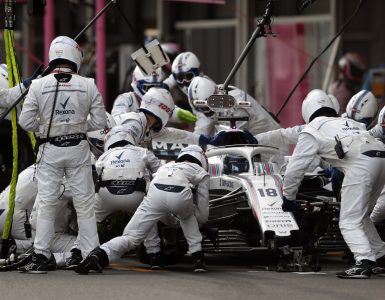 Williams F1 pit stop