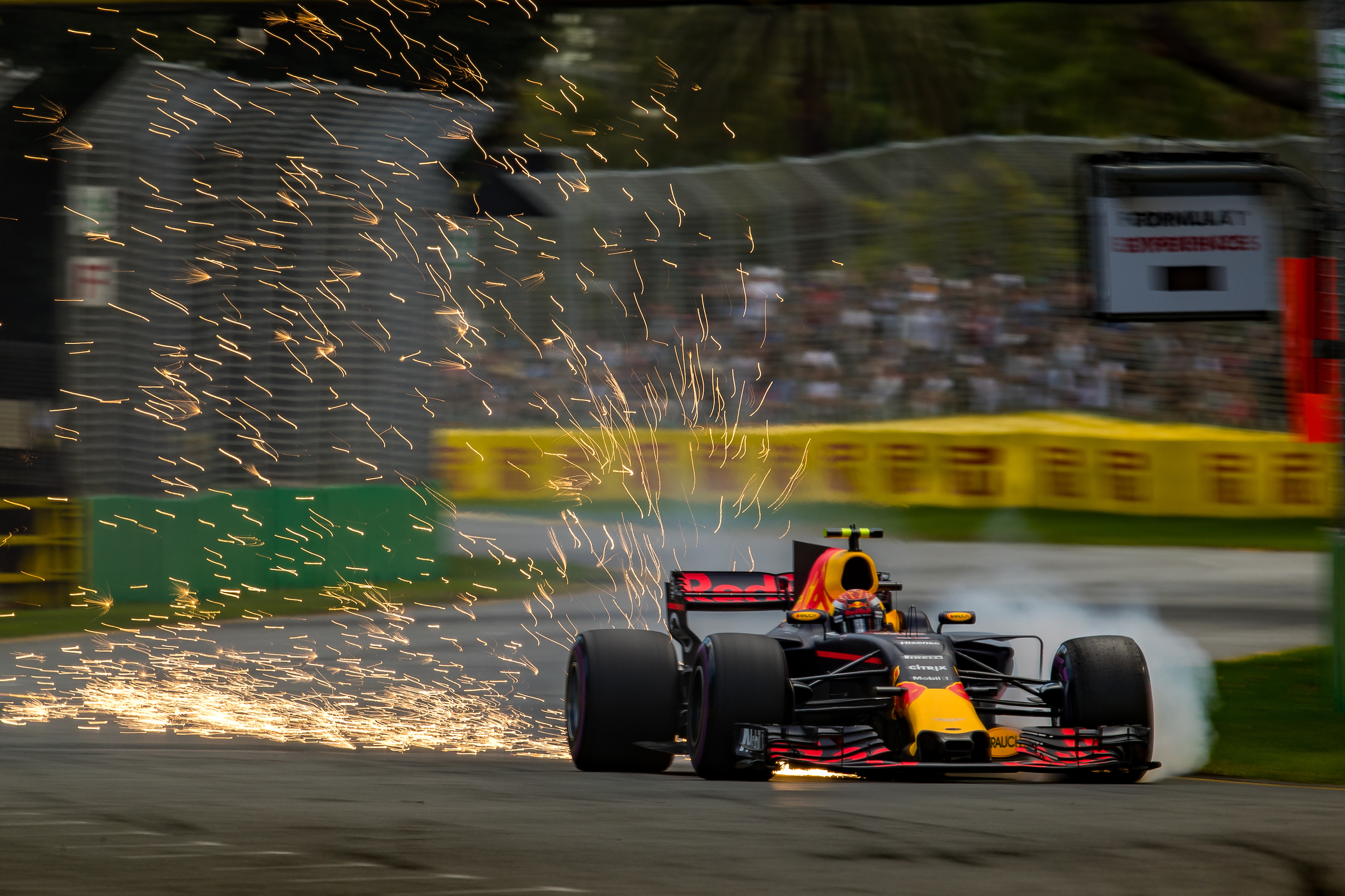 Max Verstappen at turn 6, 2017 Australian Grand Prix.