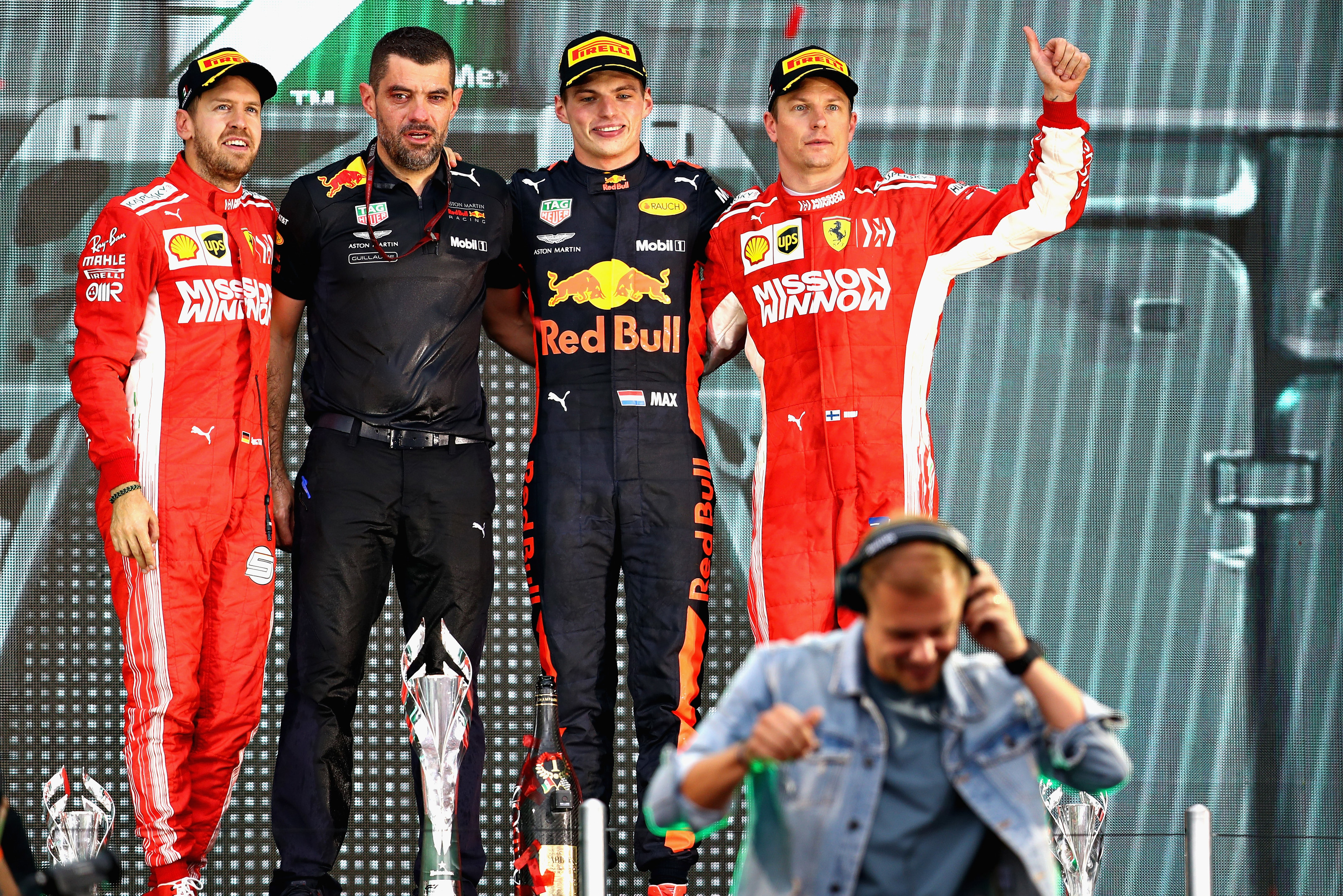 2018 Mexican GP Podium