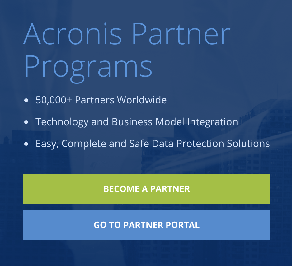 Acronis Partner Programs
