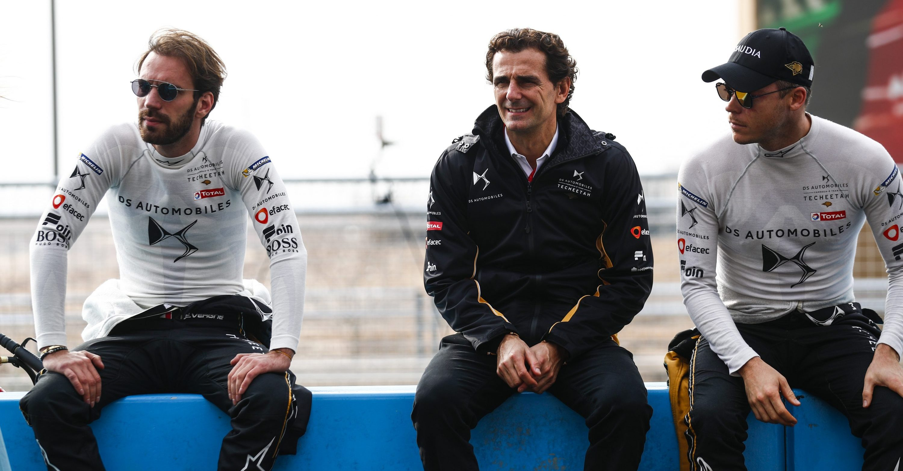 Jean Éric-Vergne and Andre Lotterer with Sporting and Technical Director Pedro de la Rosa