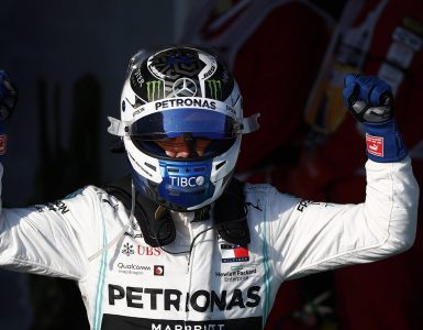 Valtteri Bottas celebrates winning the Australian Grand Prix