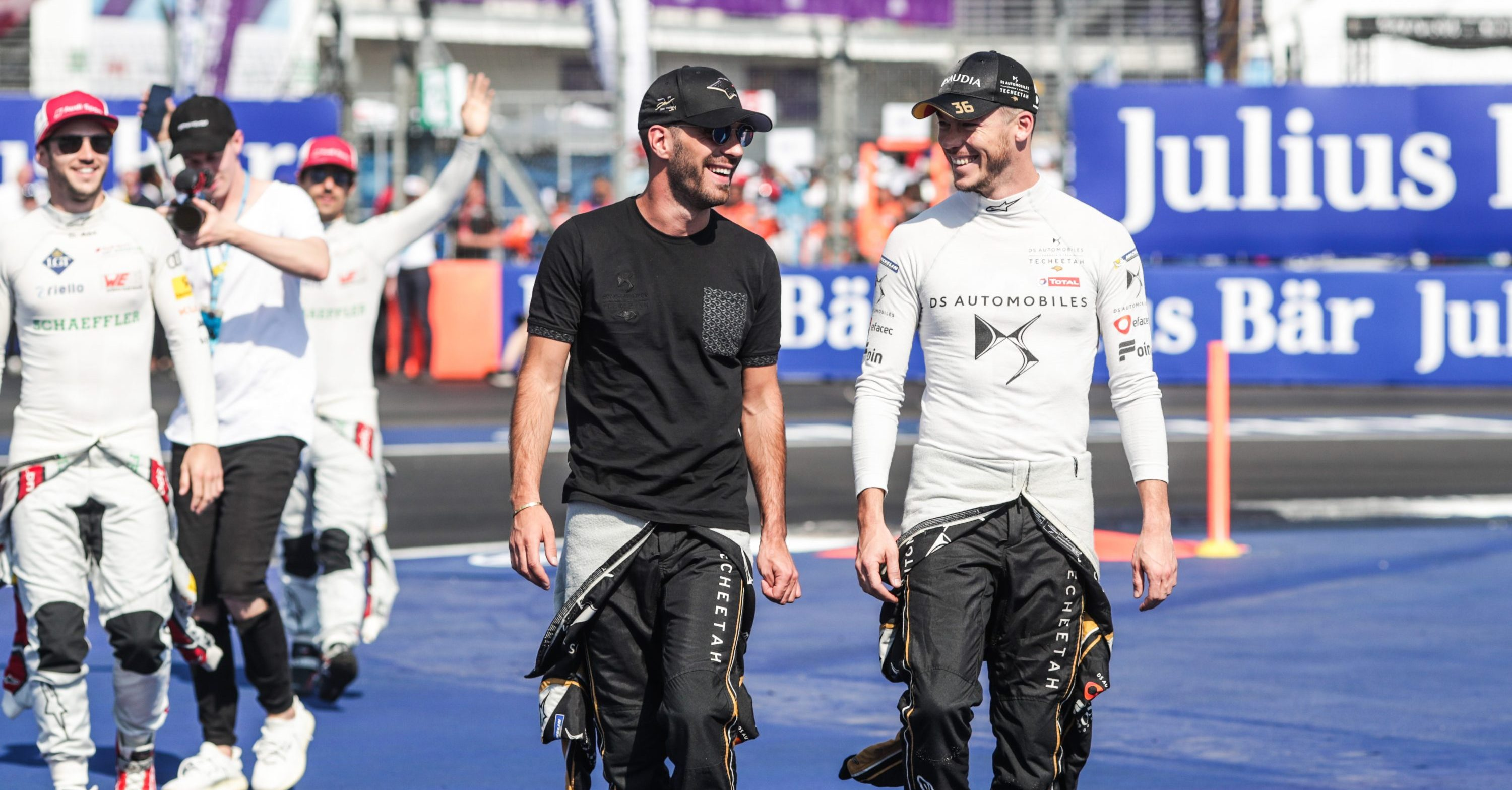 Jean-Eric Vergne and Andre Lotterer in high spirits