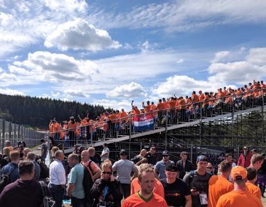 Dutch fans at the 2018 Belgian Grand Prix