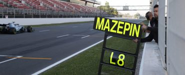 Nikita Mazepin tests for Mercedes