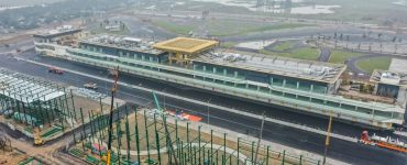 The start-finish straight of the Hanoi circuit ©Vietnam Grand Prix